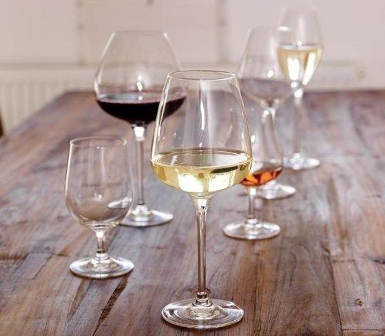 Klikk på bildet for å forstørre. Pakker med seks glass fra Odyssé (på tilbud)