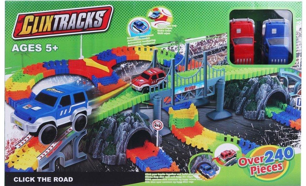 Klikk på bildet for å forstørre. Bilbane med vribare deler