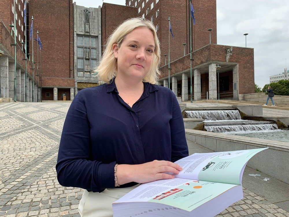 Klikk på bildet for å forstørre. Frps Aina Stenersen om Oslo-budsjettet 2020.