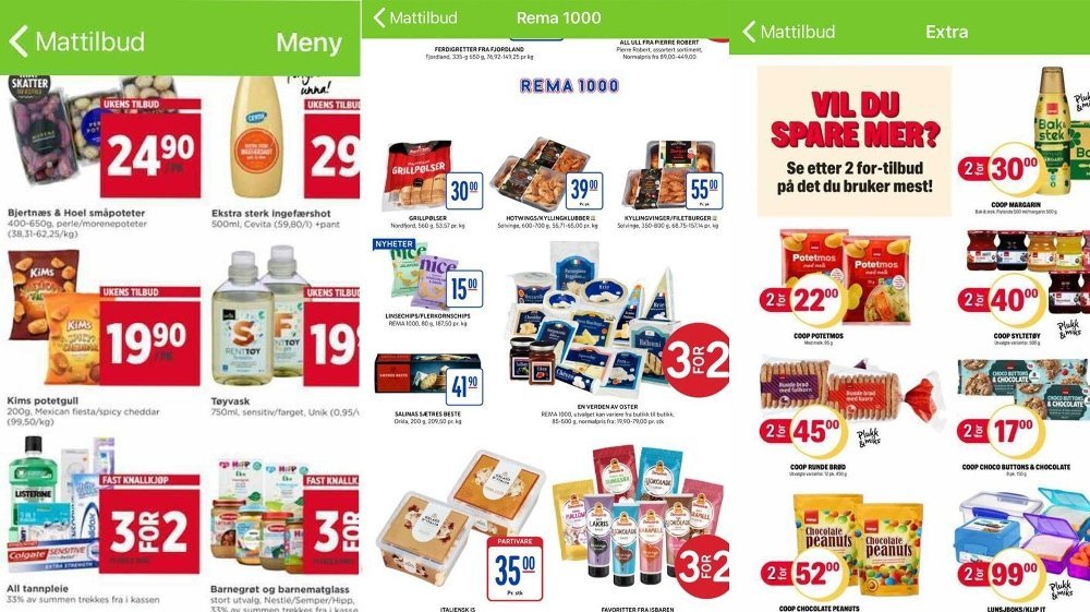 Click the pic to enlarge.  Food chains advertise with offers