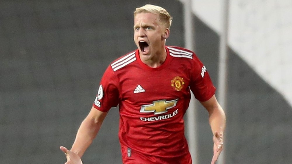 Click on the image to enlarge. ONLY REINFORCEMENT: Donny van de Beek is Manchester United's only reinforcement this summer.