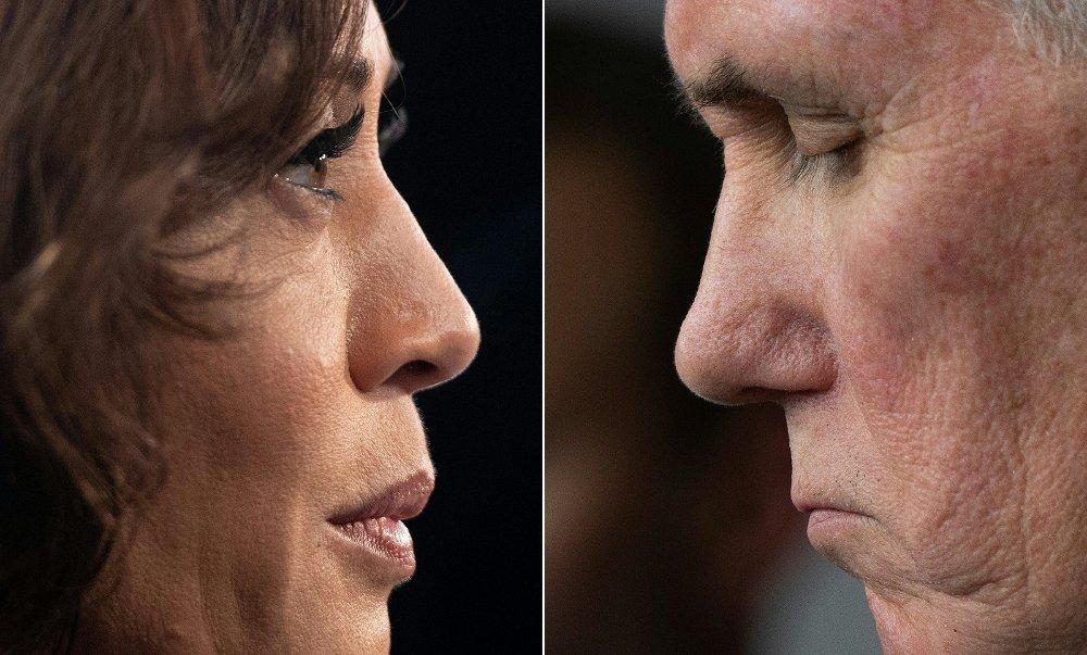 Klikk på bildet for å forstørre. Donald Trumps helse og håndtering av koronapandemien blir trolig hovedtema i nattens visepresident-debatt mellom Mike Pence og Kamala Harris.