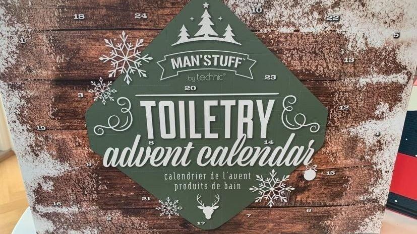 Klikk på bildet for å forstørre. Denne kalenderen har 24 produkter for menn.