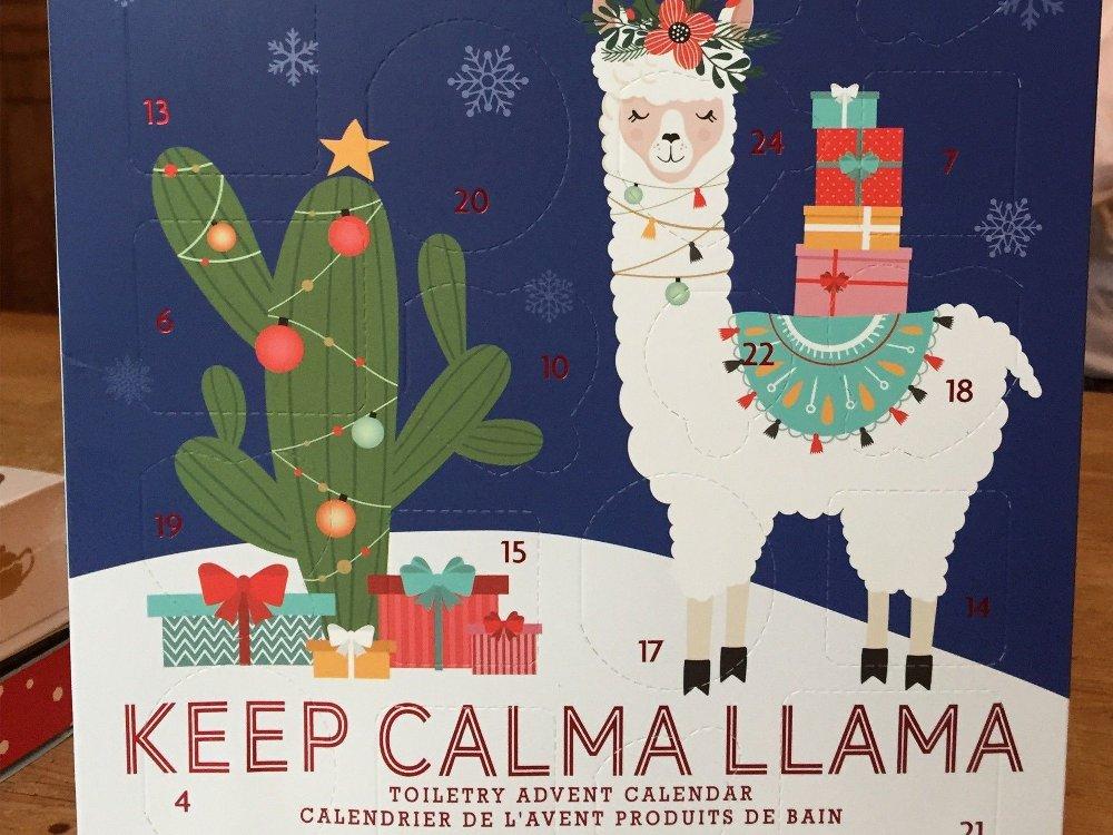 Klikk på bildet for å forstørre. En søt liten llama er vel det alle forbinder med jul?