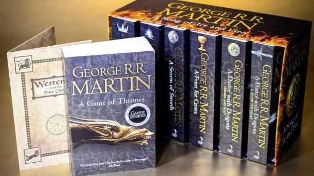 Klikk på bildet for å forstørre. Du får hele bokserien med Game of Thrones-bøkene til 22 pund. Normalprisen er 65 pund.
