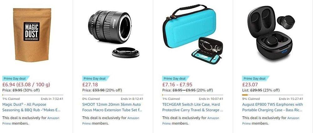 Klikk på bildet for å forstørre. Det er mange små butikker som selger varene sine gjennom Amazon. Her er fire eksempler fra Amazons britiske storbutikk. Ikke alle sender til Norge, men her kan du gjøre gode kupp på varer du normalt ikke får tak i!