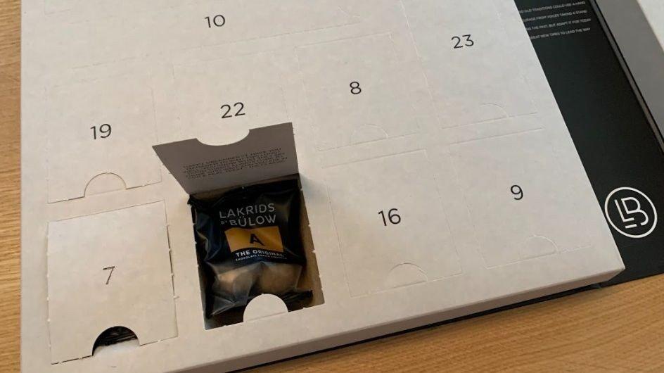 Klikk på bildet for å forstørre. Skal det være en luke med deilig sjokolade? Ja, takk. Gjerne 24 av dem.
