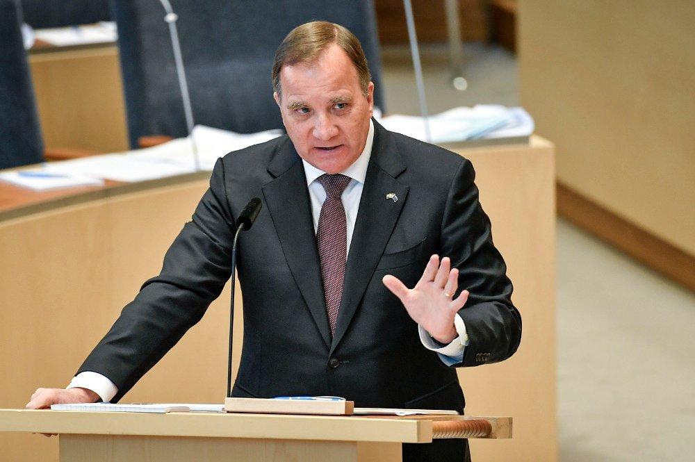 Klikk på bildet for å forstørre. KORONA-TILTAK: Statsminister Stefan Löfven sier Sverige er klare på at strengere tiltak kan settes inn.
