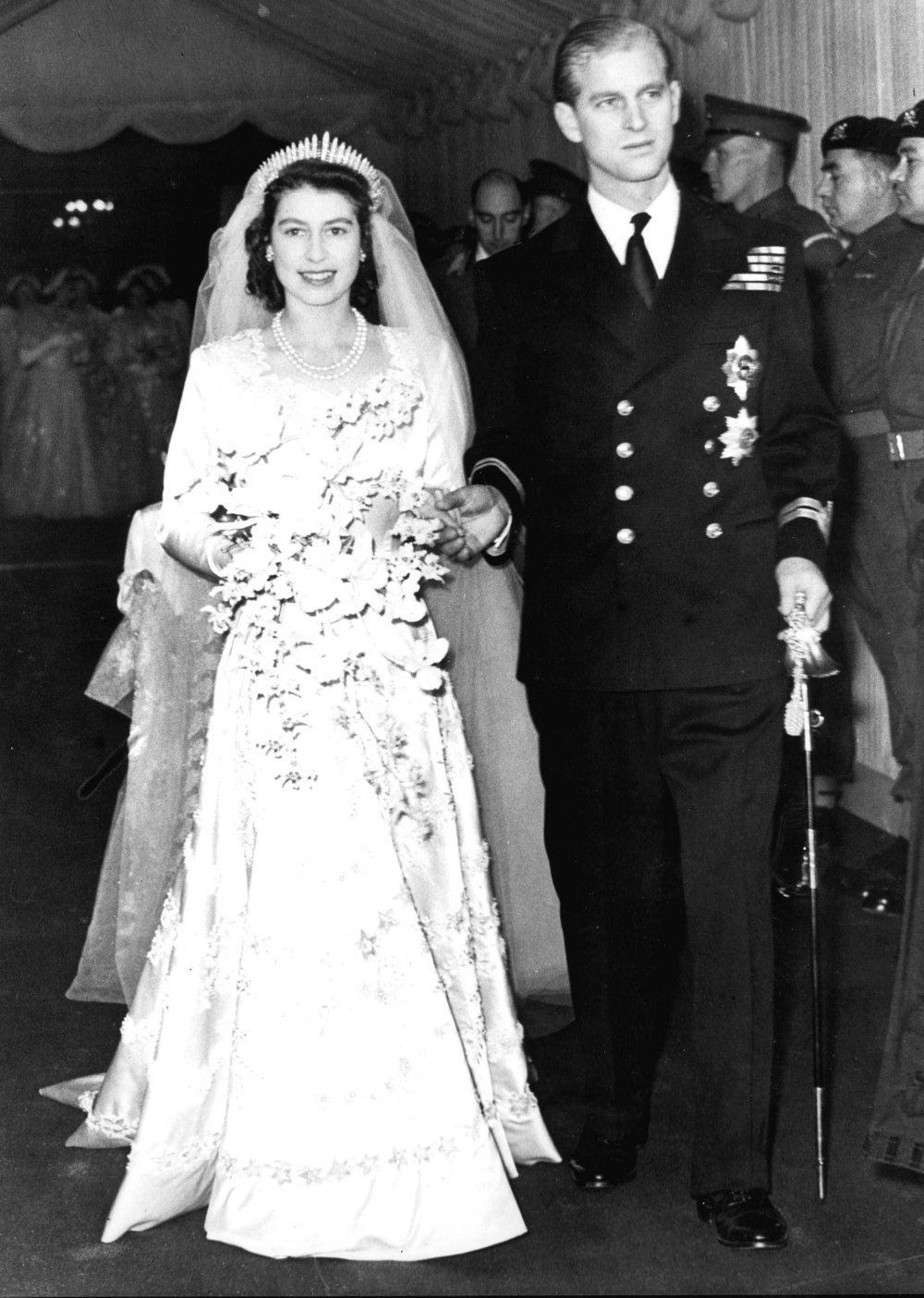 Click on the image to enlarge. ROYAL WEDDING: Queen Elizabeth and Prince Philip were married on November 20, 1947.