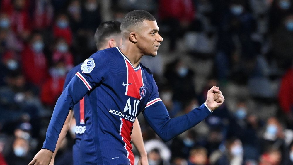 Klikk på bildet for å forstørre. Paris Saint-Germain's French forward Kylian Mbappe