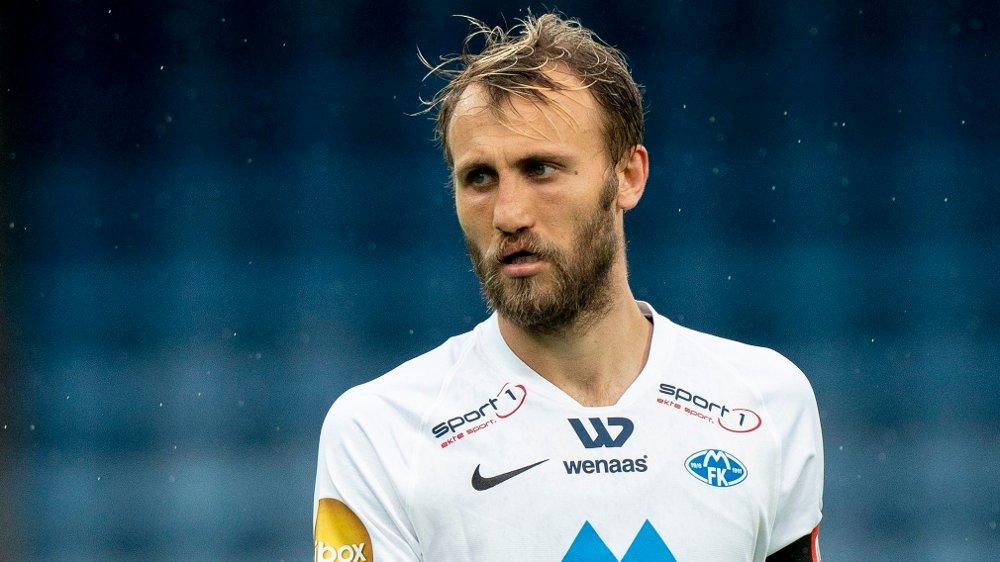 Klikk på bildet for å forstørre. Drammen 20200719. Moldes Magnus Wolff Eikrem under eliteseriekampen i fotball mellom Strømsgodset og Molde på Marienlyst stadion.