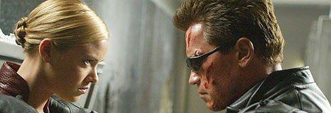Kristanna Loken og Arnold Schwartzenegger i Terminator 3.