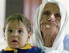 Ti måneder gamle Mohammed er den yngste av Hamida Musulmanis rundt etthundre etterkommere.