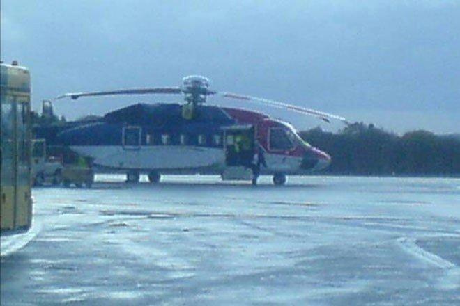 Det var dette helikopteret som måtte returnere til Flesland da mistanken om brann i motoren oppsto.