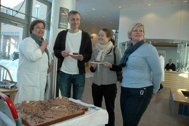 Anne Alvestad Berglund, Ingunn og Knut Helleve Halaas og Vibeke Johnstone fra FFHB. Foto: Karl Andreas Kjelstrup