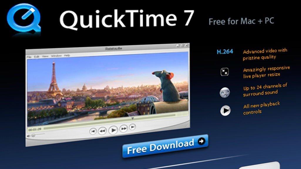 QuickTime , Windows 7   Slutt på QuickTime i Windows