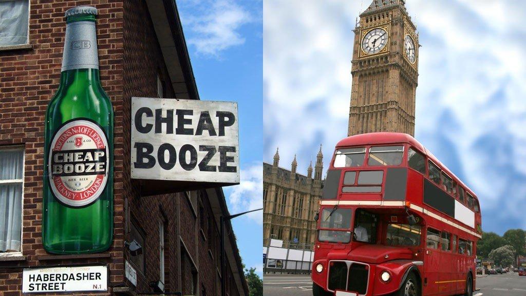 VANNHULL: London er kjent for sine røde busser og mange puber.