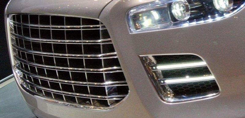SULTEN: Aston Martin Lagonda hadde særdeles beskjeden grill i 1976. Det samme kan ikke sies om dette nye Lagonda-konseptet