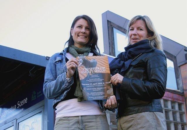 Cathrin Lunde Johansen og Christina Grønnevik Johnsen gleder seg til «Prosessen om eselets skygge».