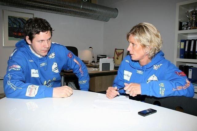 Ny jobb: Njårds Henrik Wilhelmsen er ny sportssjef i BSK, og blir kollega med daglig leder Nina Kristiansen.