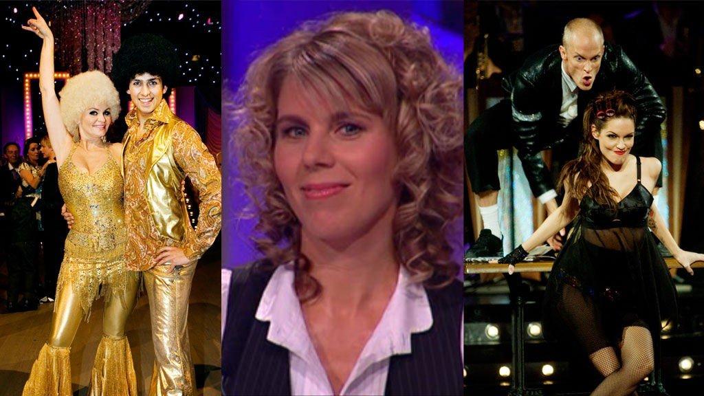 Mange forskjellige hårfrisyrer under helgens Skal vi danse. Ikke alle like vellykkede skal vi tro Storm Pedersen.