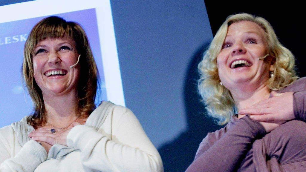 Märtha Louise og Elisabeth Samnøy fortalte om engler på alternativmessa.