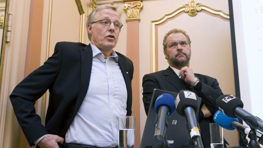 Torbjørn Almlid, administrerende direktør, Lars Sponheim styreleder i Norsk Tipping