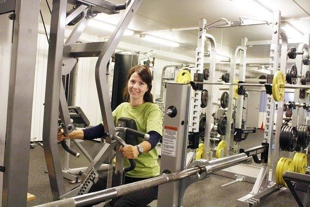 Marianne Bergesen er opptatt av å fremme god helse hos sine medlemmer, også de på kontoret.