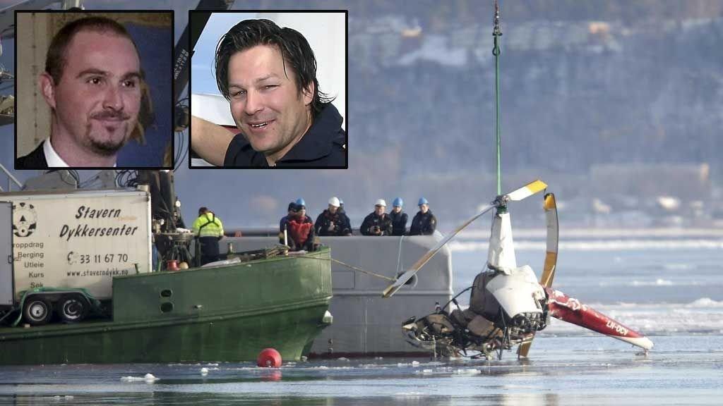 Nikolai Bleness (41) og pilot Haakon Hassel Bergerud (34) omkom begge i helikopterulykken i Horten onsdag.