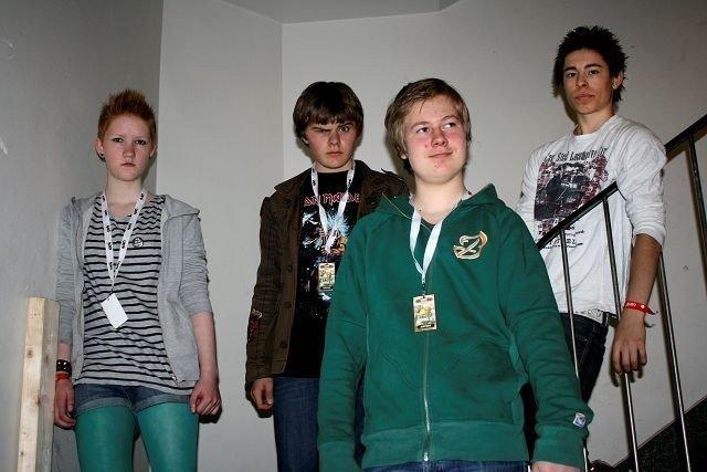 Explosive, punkbandet fra Nordre Aker, gikk sinte på scenen i Oslo-finalen i UKM søndag. Foto: Line Rundmo