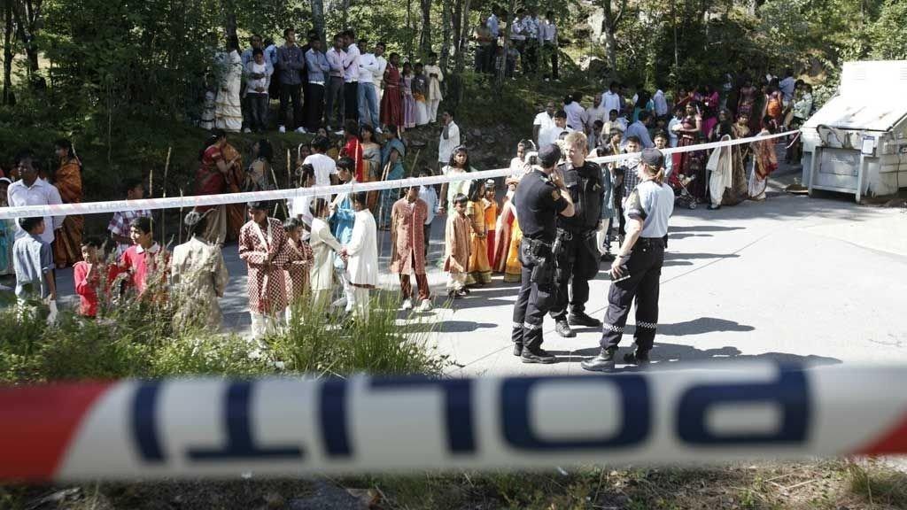 SLAGSMÅL: Politi og ambulanse rykket ut til et slagsmål på en hindufestival i Oslo.