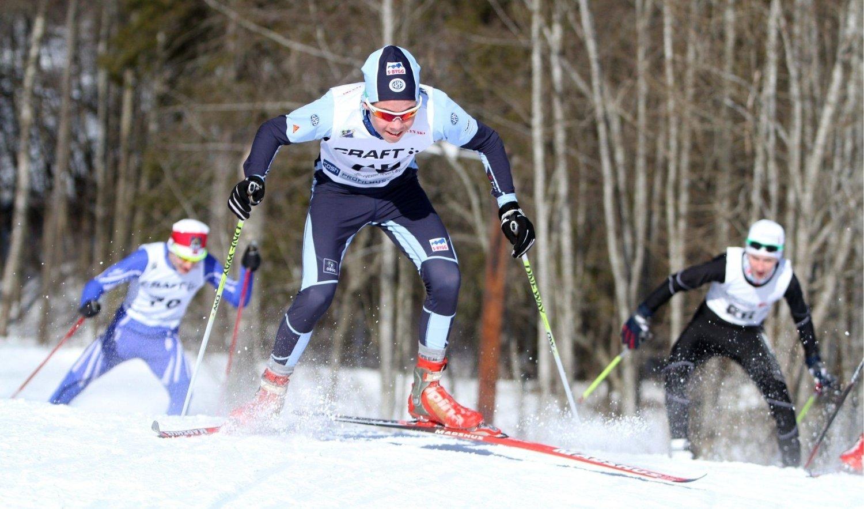 Torgeir Moe fra Høybråten & Stovner gik til gull på sprinten i klasse G16. Foto: Arild Jacobsen