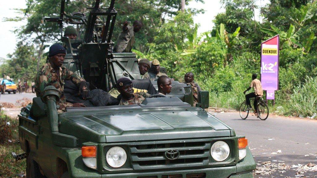 Opposisjonsstyrkene til Ouattara vest i Elfenbenskysten denne uken.