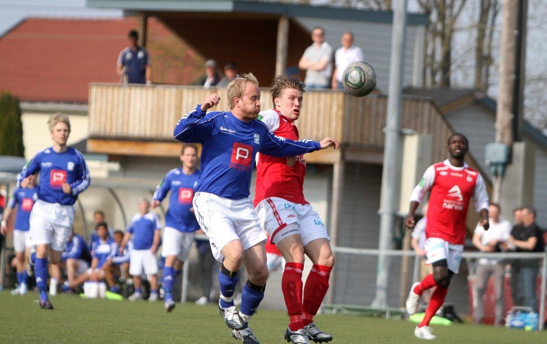 Pertter Larsen fikk sjansen fra start mot Mjølner, men måtte gå målløs av banen.