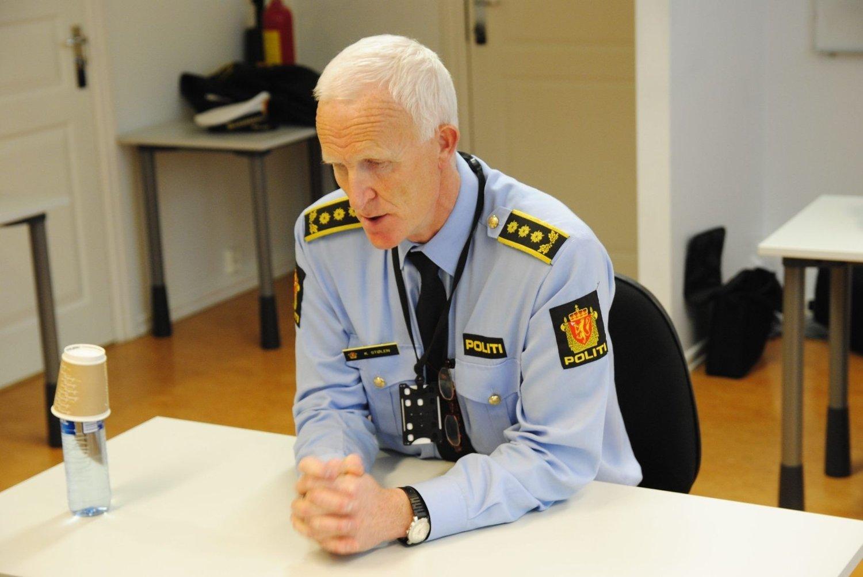 Stasjonssjef Kåre Stølen ved Grønland politistasjon deler ikke Anne Mikkelsens oppfatning om at det ikke er noen bedring i situasjonen på Grünerløkka.