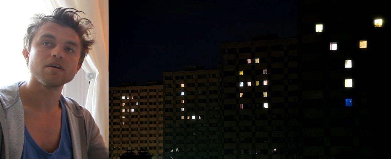 ENORM SUKSESS: Videoen hvor lysene danser på blokkene har blitt en enorm Internett-suksess.