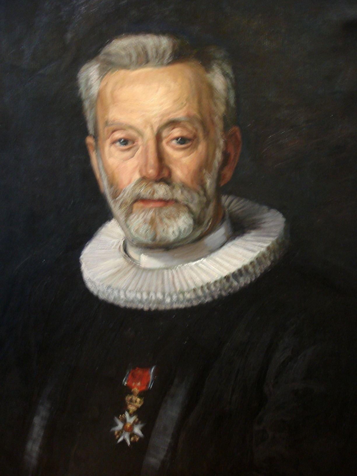 Maleri av Ole Olsen Moe, bildet henger i menighetssalen. KLIKK PÅ BILDET FOR Å SE NESTE BILDE