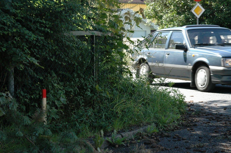 STIKKER: Denne Stikken viser hvor mye hage som må tas for å få plass til nye sykkelfelt i Ekebergveien.