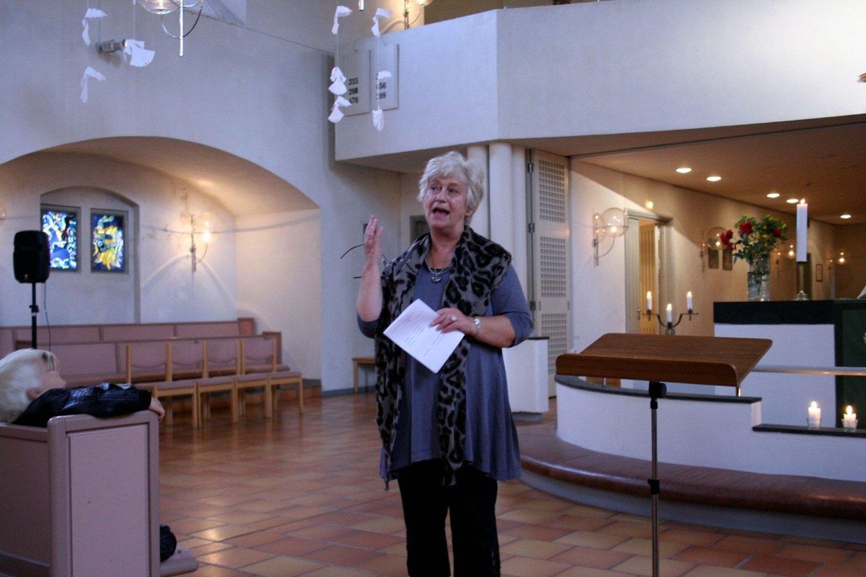 AVSLUTNINGSKONSERT: Anne Grete Hagen valgte selv å ha avskjedskonsert i Vålerengen kirke.