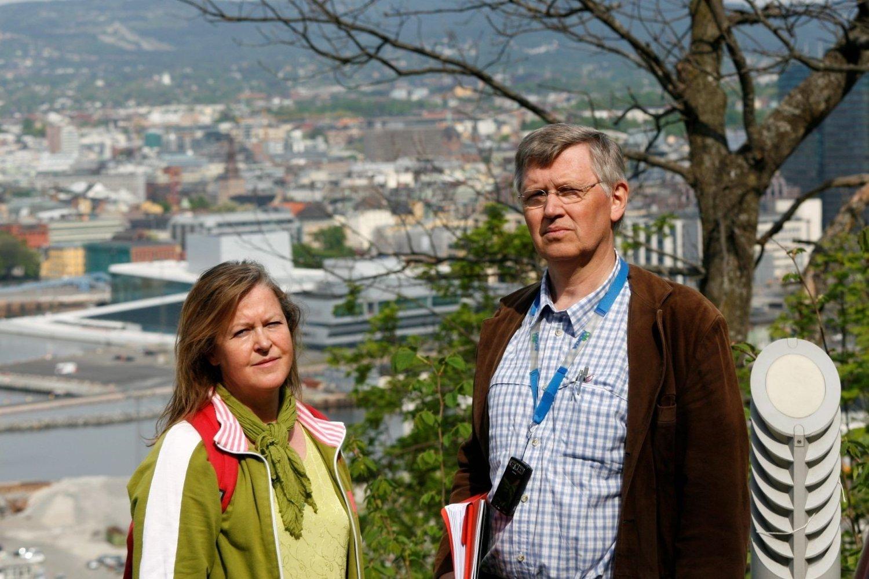 FÅR TILGANG: Folkeaksjonen for bevaring av Ekebergskogen, her representert ved Marianne Sunde og Atle Klungrehaug, får nå innsyn i Kommuneadvokatens juridiske vurdering av avtalen mellom Christian Ringes og kommunen.