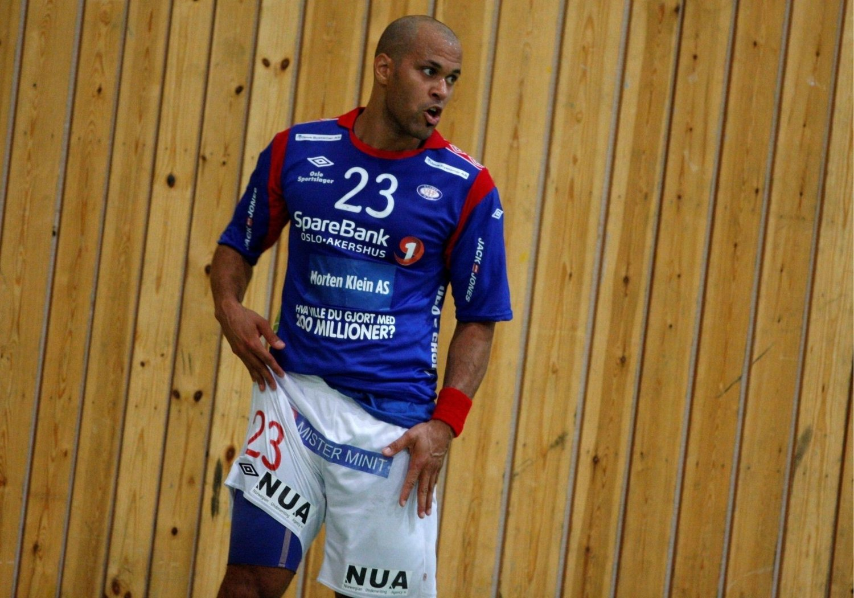 Michael George (32) ble Vålerengas toppscorer med fem mål i 1.-divisjonsoppgjøret mot Nærbø.