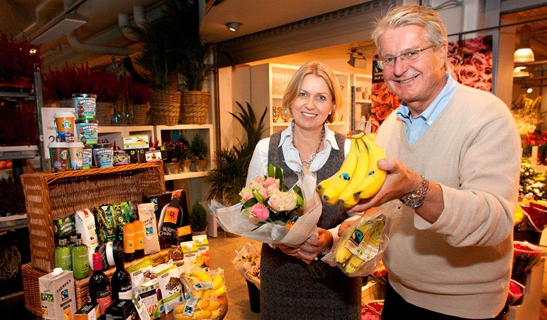 FAIRTRADE: Finansbyråd Kristin Vinje og ordfører Fabian Stang er stolte av at Oslo er Fairtrade-hovedstaden.