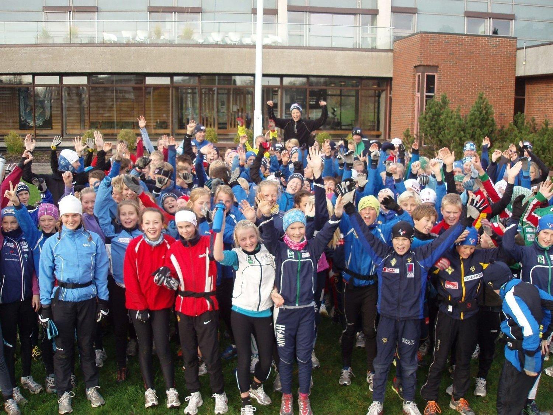 MANGE: Hele 170 12- og 13-åringer var med på kretssamling på Norges Idrettshøyskole lørdag (29.10.) i regi av Koll Ski og Oslo Skikrets.