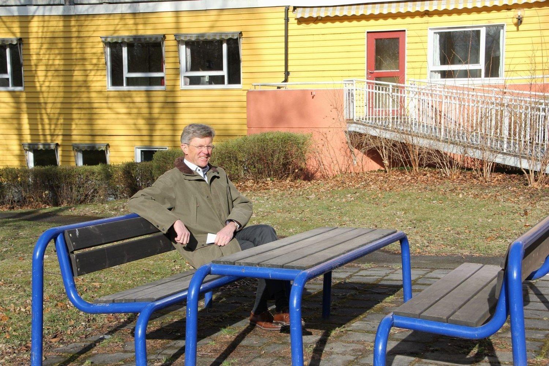 BU-leder Carl Oscar Pedersen ser frem til at sykehjemmet og parken skal bli et gode for funksjonshemmede.