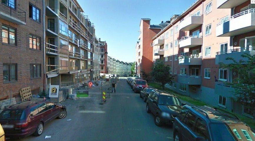 Det var her, utenfor Vøyensvingen 7, at kvinnen (57) ble kidnappet 12. august i år.