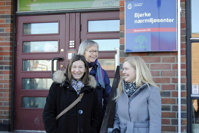 ER SPENTE: Jorunn Pedersen, Anne P. Risanger og Lise Økland Haugen gleder seg til å starte nettverksgruppen.