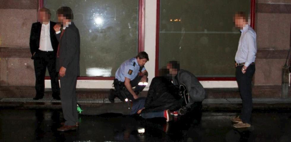 Alvorlig: DittOslo-journalist Vidar Bakken ble vitne til at politimannen ble slått ned i fjor vår. Han omtaler hendelsen som svært dramatisk. Foto: Vidar Bakken