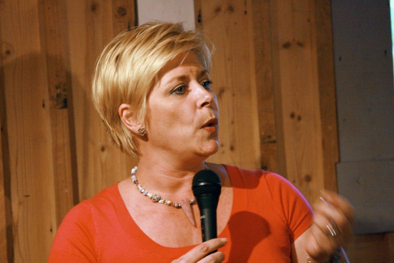 FOLKEMØTE: Siv Jensen skal snakke om trygghet og justispolitikk på Oppsal.