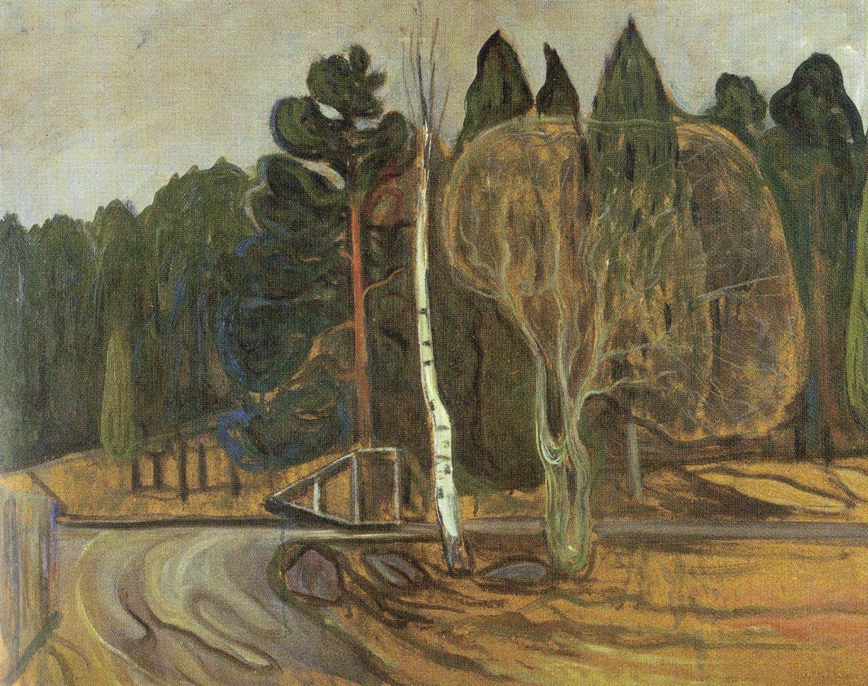 HVOR ER DETTE? «Vårlandskap med snøplog» av Edvard Munch.