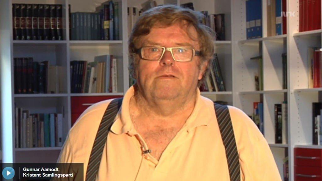 NERVØS. - De eldre skal jo også ha det godt, hvis du skjønner. Nei, nå spør du vanskelig, sa listetopp Gunnar Aamodt til programlederen i NRK-programmet Morran i Østfold.